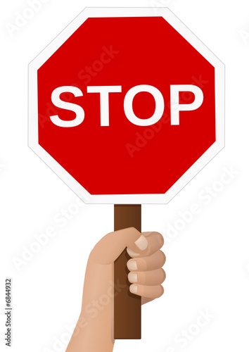 Panneau de signalisation stop la main fichier vectoriel libre d - Prix d un panneau stop ...