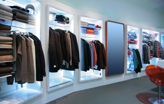 upper clothes in shop