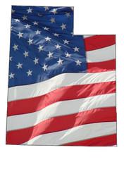 U.S. flag over Utah