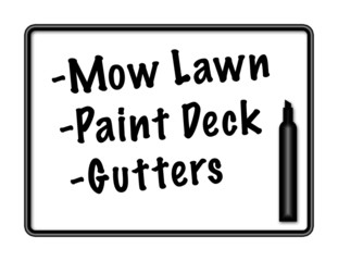 Marker Board with Chore List
