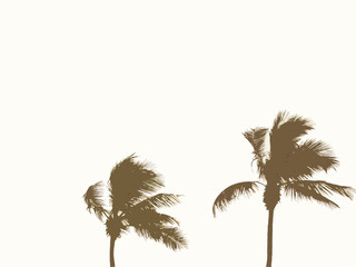 Palm Trees, Beige