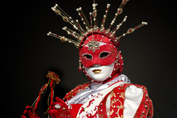 venetian mask and costume