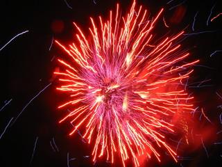 Fireworks purple