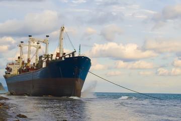 Sea vessel aground