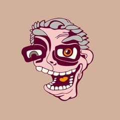 style cartoon man. vector illustration.