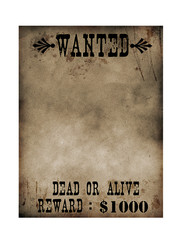 Sherrif notice paper (Bounty Hunter)