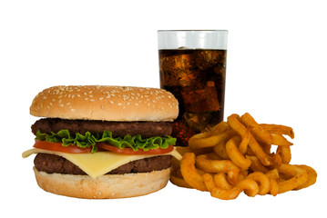 Burger, Cola & Fries