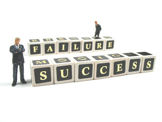 the small line between succes and failure