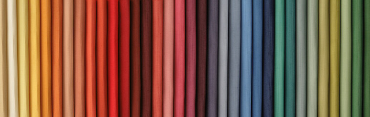colored fabric catalog to serve as background
