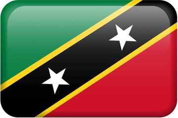 St. Kitts and Nevis Flag Button