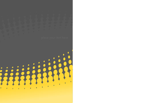 Background with yellow circles. Vector art