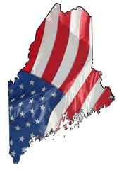U.S. flag over Maine