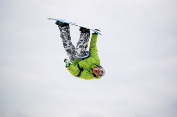 snowboard big air flip