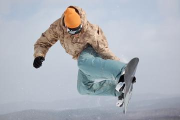 snowboard big air training