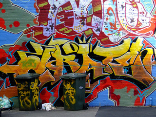 In de dag Graffiti Grate