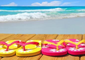 Flip Flops on Boardwalk