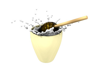 Honey and milk (3d made)