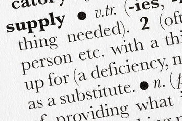 Supply word dictionary definition