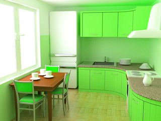 kitchen an interior