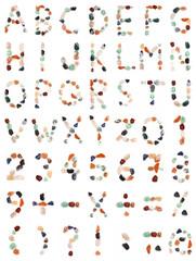 Gems alphabet, 400 to 533 pixels each, unique set
