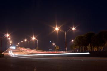 William M. Powell Bridge at Night