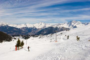 Ski resort valley