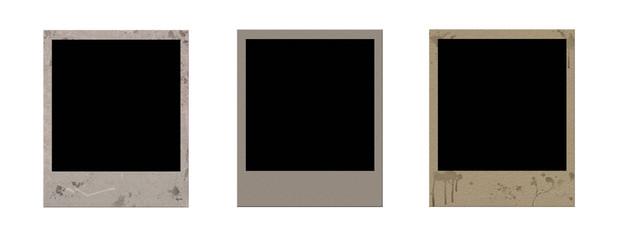 grunge polaroid frames