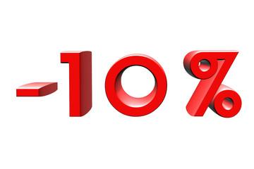 -10 pourcent, percentage