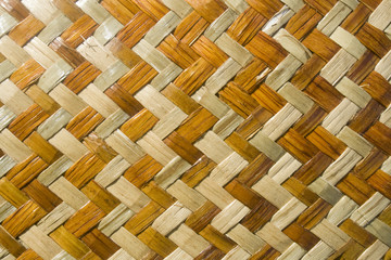 Maori woven design background made out of flax material