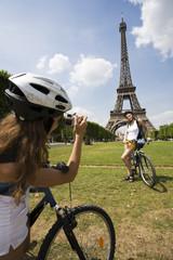 woman visiting paris