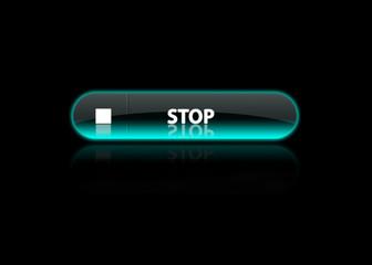 Stop button neon