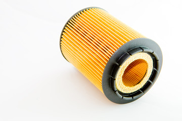 A filter cartridge isolated on white background