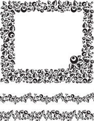 Floral frame and borders