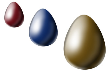 Colorized eggs