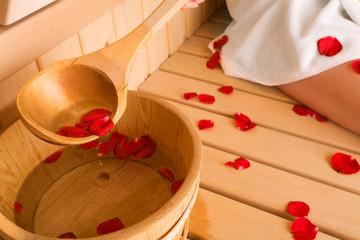 rose and sauna