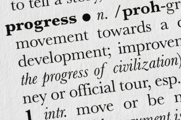 Progress word dictionary definition