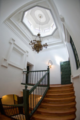 Top of the stair in a stately home