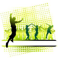 Club life, people dance, flowing frame