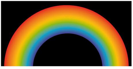 Rainbow on Black Background