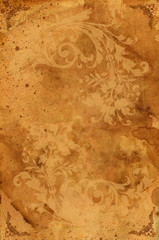 Vintage background. ornament on an old paper