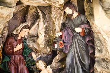 Nativity figure jesus, marie and joseph