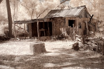 Old Western Cabin