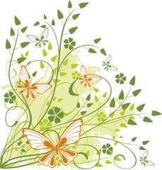 spring floral background - vector