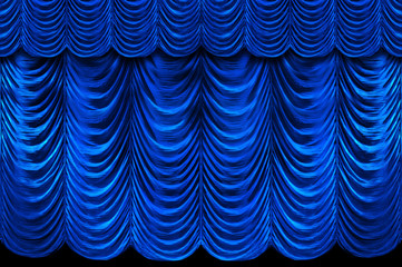 Wall Mural - Blue Stage Curtains