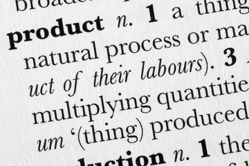 Product word dictionary definition