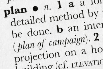 Plan word dictionary definition