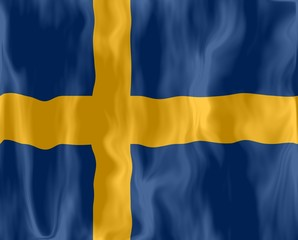 suède suede drapeau froissé sweden flag