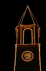 Christmas, lights in the bell tower
