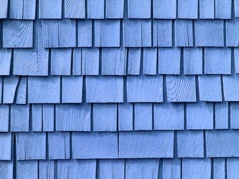 blue shake roof