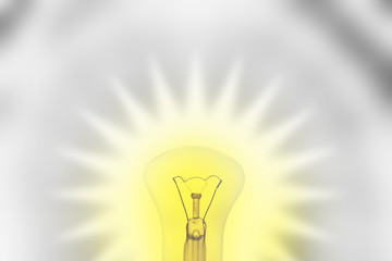 Glass light bulb like idea concept
